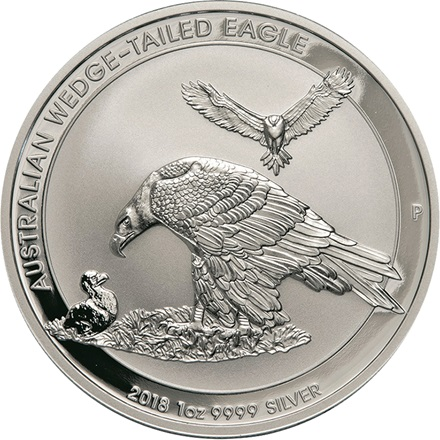 Silber Wedge Tailed Eagle 1 Unze - 2018 - differenzbesteuert
